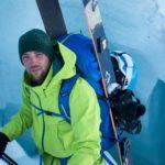 Stephan Verheij hiken op de gletsjer van Sölden. (Foto: Sjoerd Wesselink)